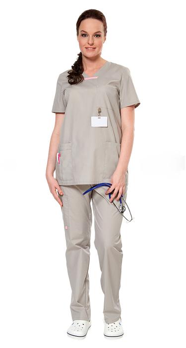 36ad49a35c2 Костюм женский АУРА серый для медиков ...