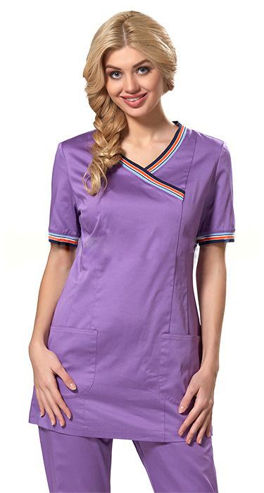 29a1d59de7c Купить медицинскую блузу ВАЙОЛЕТ LF2106-1 в розницу или оптом в ...