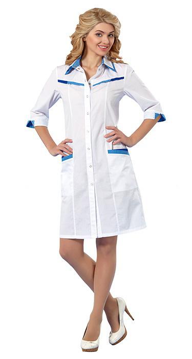42e0fc8861cf Халат медицинский АВРОРА медицинский  Халат АВРОРА для врача белый  Халат  LL1111 АВРОРА для медсестры ...